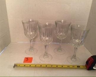 #3-$10 set of 4 wine glasses