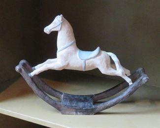 1982 Ethan Allen rocking horse decorative accessory