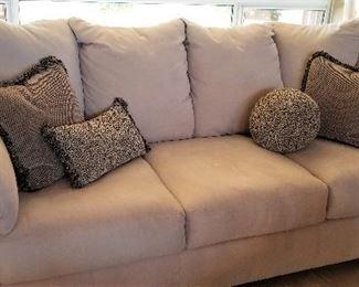 "#8 - Light Beige Sofa - 72"" Long - $395.00"