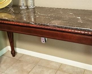 """#18 - Black Marble Console 54"""" Long - $195.00"""
