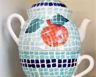 #35 - Ceramic Teapot & Cup - $5.50