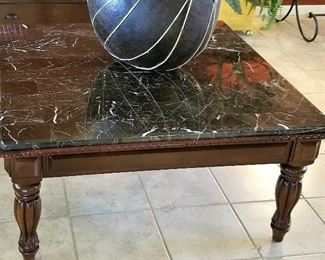 """#81 - Coffee table that matches the end table and console table 40"""" x 40"""" - $250"""