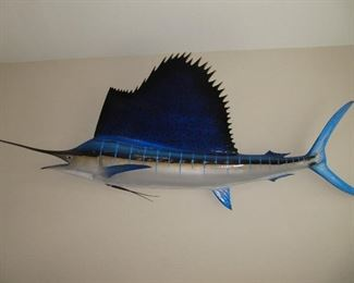 Sailfish fiberglass 10 feet long - stunning!  $2495 or best offer. Gray Taxidermy