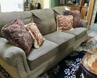 Mayo Furniture Co. Sofa with Nailhead Trim $420.00