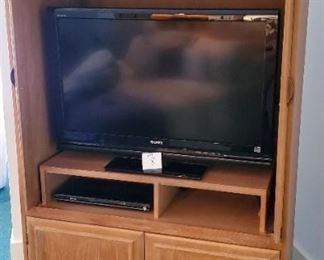 """TV opening on inside is app. 39.5""""W x 36""""T. TV and dvd player is NOT included"""