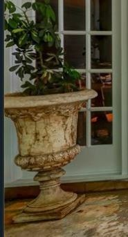 large, beautiful patio urn
