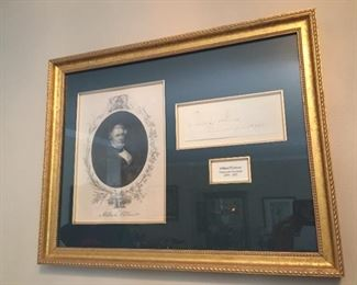 Signed autograph and picture of Millard Fillmore.