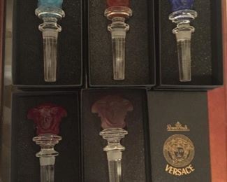 Versace wine stoppers.