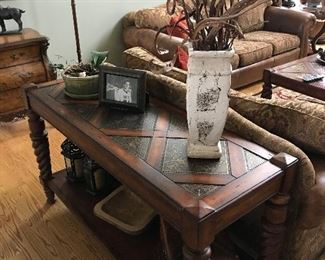 Sofa table which is part of a 4 piece living room set