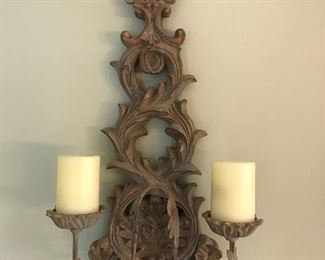 One of a pair of wall sconces