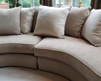 Close up of Bernhardt sofa