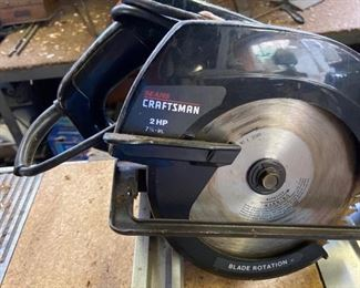"Sears Craftsman 2 HP 7 1/4"" Circular Saw          Model No. 315.109020          With Instruction Manual                  $35"