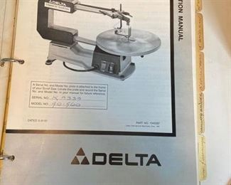 """Delta 2 Speed 16"""" Scroll Saw  Model No. 40-560                    With Instruction Manual     $85"""