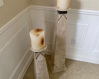 TALL FLOOR CANDLE HOLDERS
