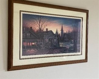 TERRY REDLIN LITHOGRAPH OFFICE HOURS SIGNED 4400/6800