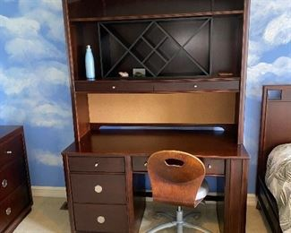 "DESK WITH HUTCH BY YOUNG AMERICA  52""L x 24""D x 75""H  $140"