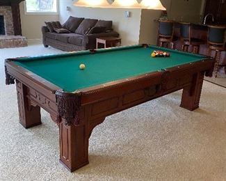 "FISCHER POOL TABLE  ONE PIECE SLATE 8' 99""L x 55""W x 31.5""H $800"