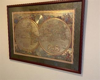 HISTORICAL WORLD MAP FROM ITALY