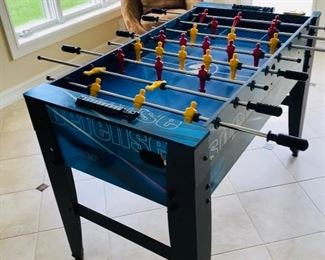 "FOOSBALL TABLE/ SOCCER / HOCKEY & BASKETBALL  48""L x 25""W x 32.5""H  37""WIDE WITH STICKS $125"
