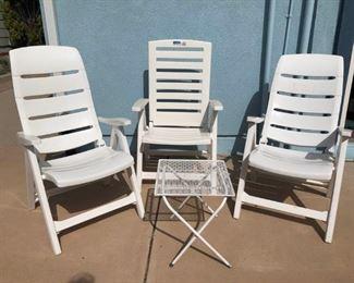 Backyard Chairs  Wind Chimes