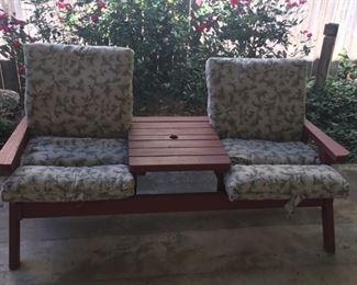 Vintage patio seating