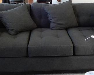 Large black denim  couch with extra pillows in great condition. $325 great deal!