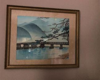 Oriental woodblock $120