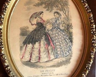 Victorian French magazine print $26