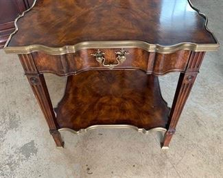 """THEODORE ALEXANDER TIERED SIDE TABLE 26""""X26""""X27 $750"""
