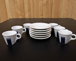 Lavazza Porcelain expresso cups and Saucers,  set of 6= $30