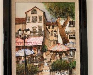 """Lacigale"" Oil on canvas  Artist. Oukli 12x10 1/2 300.00"