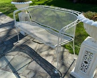 wrought iron bench 250.00