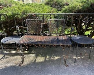 wrought iron bench (needs paint) 75.00
