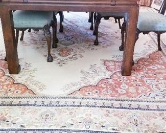 LOT D4-$750- HAND KNOTTED RUG MADE IN INDIA 15FT X 12 FT
