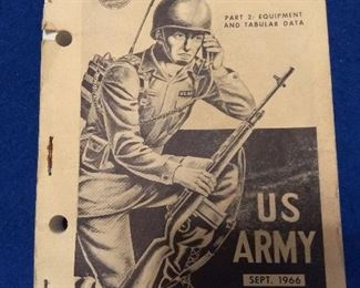 Rare Vintage 1966 US Army Signal Reference Data. Part 2. Equipment and Tabular Data. ST 11-154-2 Manual