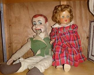 Charlie McCarthy Doll & vintage Doll. The Charlie McCarthy Doll has been sold.