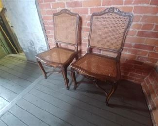 2 of a set of four floral, French chairs $200 for all four