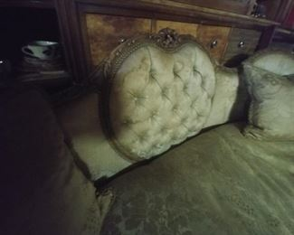 $450 Fabulous carved sofa matching chair also available