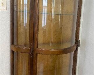 Antique Bow Front Curio Cabinet