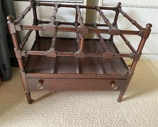 Antique Magazine Rack $60 This item is offered for presale with payment to insure you get what you want. Please text 847-269-6272 to purchase, I will call you back with in 24 hours