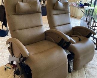 Relax the Back Reclining leather chairs $800 Each This item is offered for presale with payment to insure you get what you want. Please text 847-269-6272 to purchase, I will call you back with in 24 hours