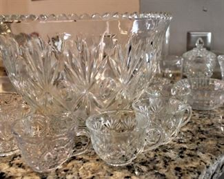 Lead crystal punch bowl set.  Cheers!