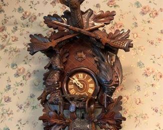 Schneider Cuckoo Clock - Hunting Scene - $175