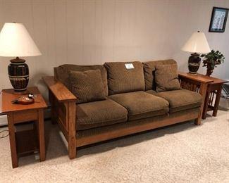 Mission / Shaker Sofa & Side Tables - $500 Set