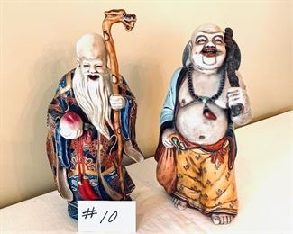 """ORIENTAL BUDDHAS  REPUBLICAN PERIOD.  12-13""""t $ 100 each."""