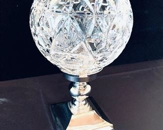 WATERFORD CANDLE/GLOBE  TIME SQUARE HOPE 2000 SILVERPLATE. 10.5t    $ 95