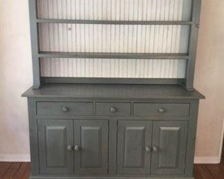 Country Kitchen Shelf 2 Piece Pantry Buffet and Wine Rack https://ctbids.com/#!/description/share/409290
