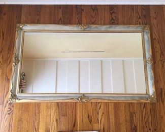 Large Gold and Gray Framed Wall Mirror https://ctbids.com/#!/description/share/409294