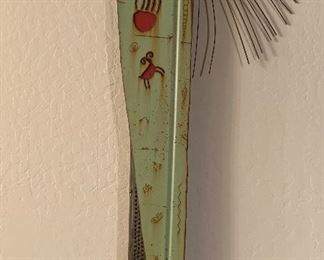 """Chris Turri mixed media story Totem,  """"Wind in the Medow."""" $775.  Retails for $1600-$1800."""
