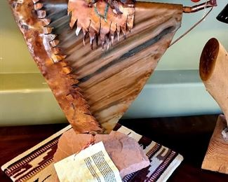 Sheri and Ralph Meldrum copper shaman.  $725. Artists live in Cave Creek.